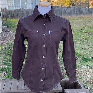 Carhartt for women brown cotton shirt